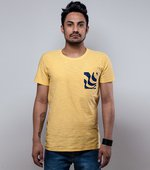 T-SHIRT GOLA NORMAL SLOW RIDER AMARELO