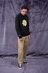 Moletom Raglan Gola Careca Sad Flowers