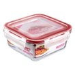 POTE QUAD VIDRO SANREMO 550ML | GLASS SQUARE CONTAINER SANREMO 550ml | POTE CUAD VIDRIO SANREMO 550ML