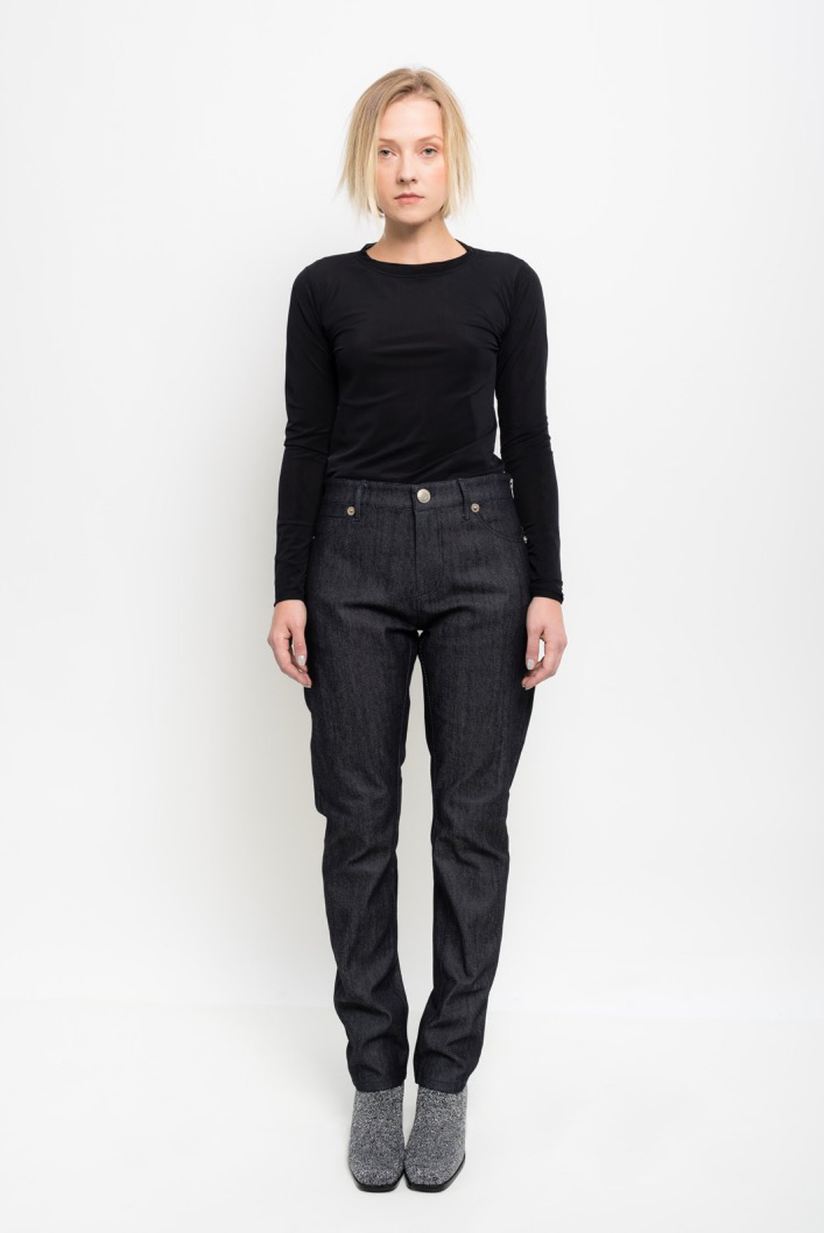 calça jeans five pockets