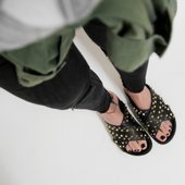 Flat Emma Studded Black