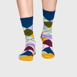 Meia Happy Socks Argyle Rosa | ARY01-7002