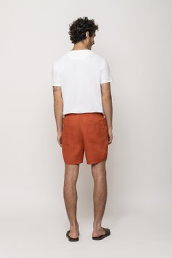 Short Viés Linen Terracota