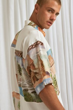 Camisa MC Oversized Patchwork Est Copacabana