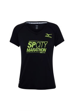 Camiseta Sp City Marathon 42K 2018 Mc Fem Preto