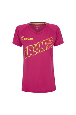 Camiseta W Run Free Happy Cereja Fem