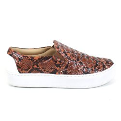 Tenis Emporionaka Slip On Tresse Cobra Marrom