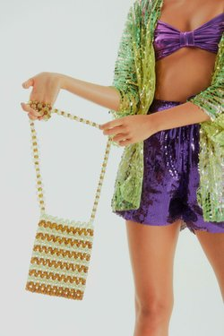 Bolsa Paola Mini SRI Beaded Listras