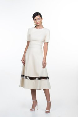 SAIA ANITA MIDI OFF WHITE