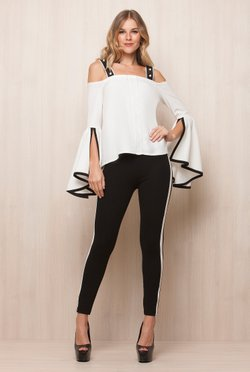 Calca Black listra White