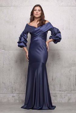 Vestido Longo Blue Night