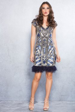 Vestido Geometric Embroidery