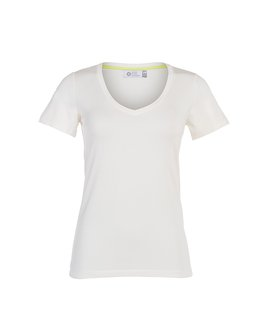 T-SHIRT GOLA V MODAL - OFF WHITE