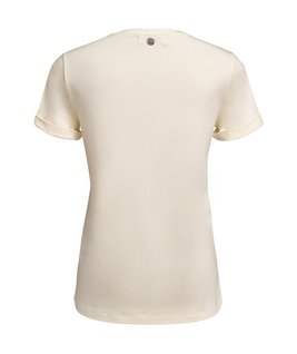 T-SHIRT GOLA CARECA MODAL - OFF WHITE