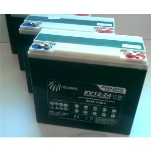 Bateria para Cadeira de Rodas Motorizada Global Power 24Ah 12V - Par
