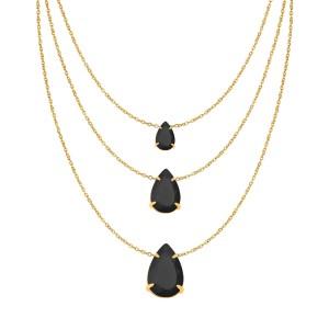 Colar Cascata Tripla Gota Cristal Negro Dourado. R  34,10. Imagem do  produto Anel Solitário Lola Prata 925 85a93d3689