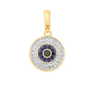 1eff2a910ebfa Imagem do produto Pingente Cárpatos Olho Grego Cravejado de Zircônias  Folheado a Ouro 18k ...