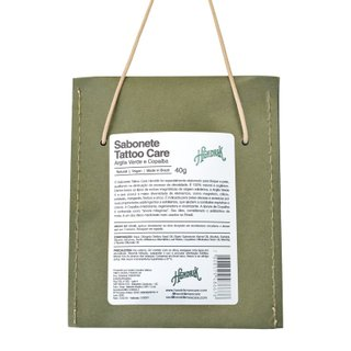 Sabonete Tattoo Care - Argila Verde e Copaíba 40g | Tattoo Care Soap - Green Clay and Copaiba 40g