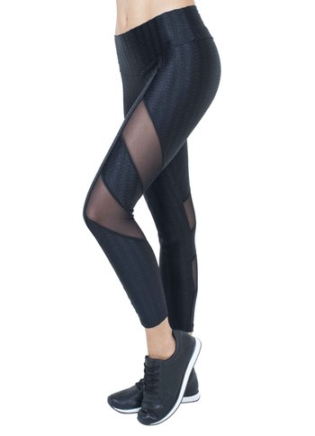 Legging Energy Black Tulle