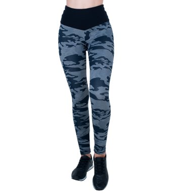 Legging Essencial Military Blue Jacquard
