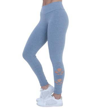 Legging Laser Cut Light Gray Supplex