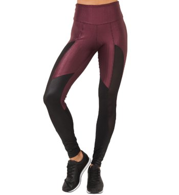 Legging Energy Burgundy Tulle