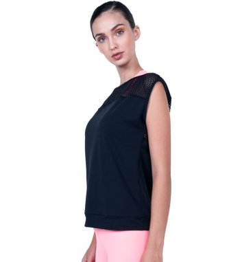 Blusa Courage Black Mesh
