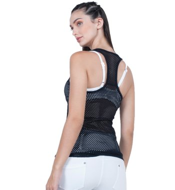 Blusa Enjoy Black Mesh