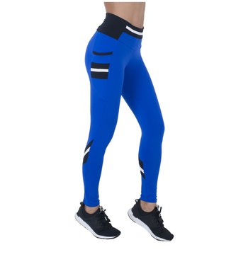 Legging Faster Blue Supplex