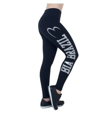 Legging Bia Brazil Black Supplex