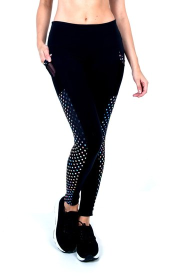 Legging with Supplex detail Black