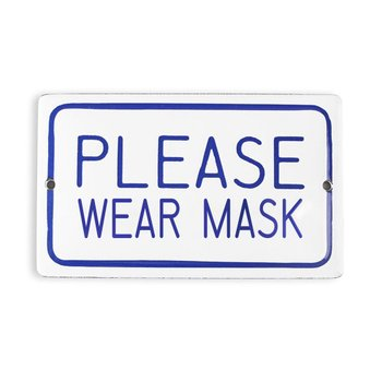 Placa Please Wear Mask