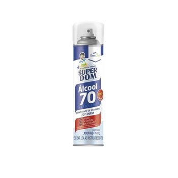 Álcool Spray 70% 300ml Super Dom
