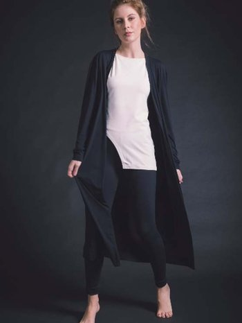 Cardigan Longlight coat Preto