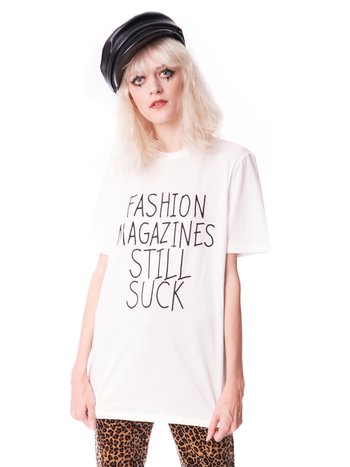 Camiseta Fashion Mag off-white