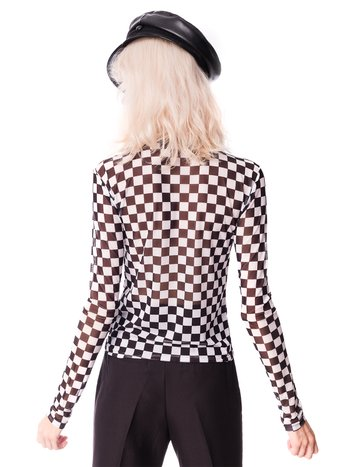 Top de tule checkered CHEAP TRICK