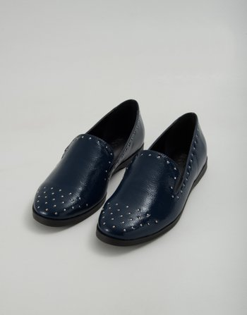 SLIPPER CRAVOS VERNIZ AZUL
