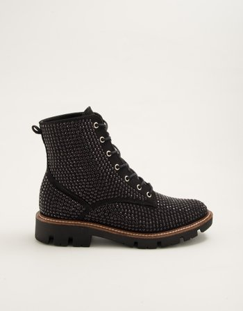 COTURNO HOT FIX SUEDE PRETO