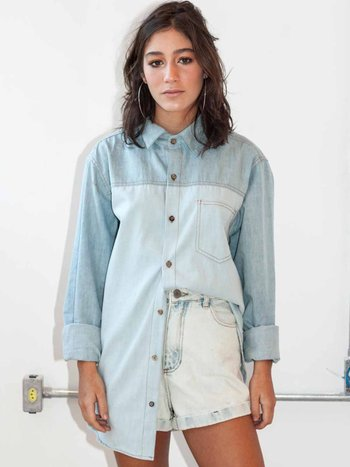 Camisa Oversized Jeans 2 Cores
