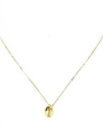 Gold Coquillage Necklace Super Long