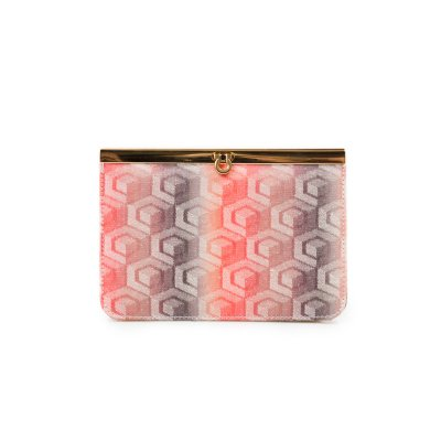 CLUTCH LUCKY JACQUARD CORAL