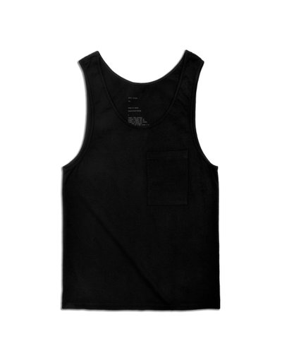 Tank Top Black Pocket