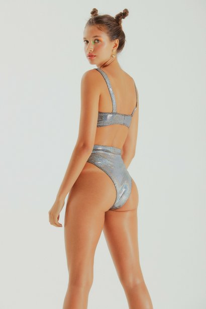 Hot Pants Britt Silver Holographic