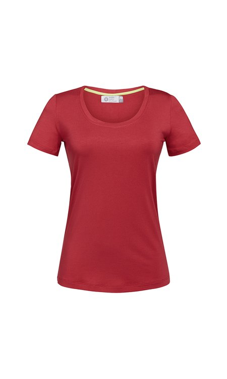 T-SHIRT GOLA U MODAL - RED PEAR