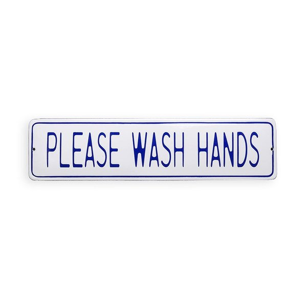 Foto do produto Placa Please Wash Hands