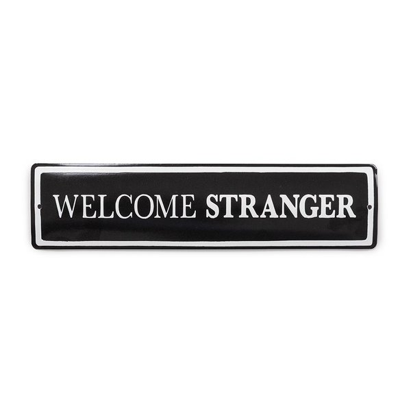 Foto do produto Placa Welcome Stranger