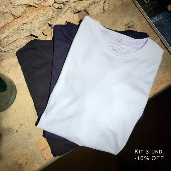 Kit - Camisetas Pima Basic | Kit T-Shirt Pima Basic