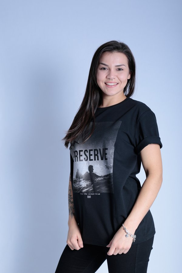 CAMISETA OCEANO PRESERVE  RECICLE