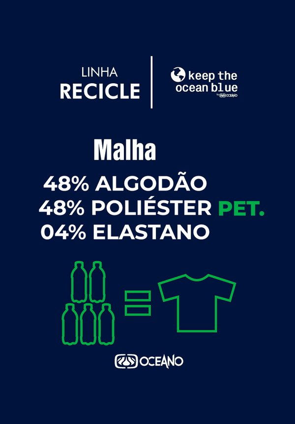 CAMISETA OCEANO KEEP PRESERVE RECICLE
