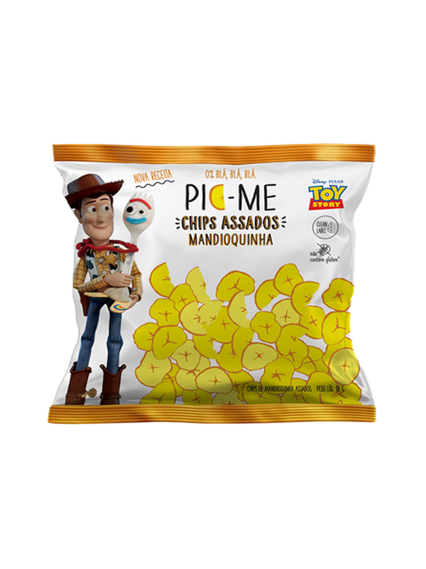 Chips Assado Disney Mandioquinha